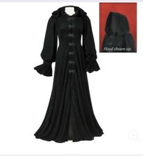 Pyramid Collection Full Length Velvet Cape Cloak Poncho Hooded Victorian Grunge