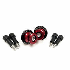 Kawasaki ZX6 ZX7 ZX9 ZX10 ZX12 Swingarm Spools Sliders - Red