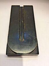 Vintage wooden print block 'U'