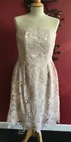 CHLOE LEWIS AT  LITTLE MISTRESS LACE PARTY/PROM DRESS SIZE 14(42) LINED BNWT £80