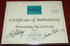 WDCC FANTASIA 2000 DRUMMING UP A DREAM FIGURINE COA SIGNED ERIC SUSAN GOLDBERG