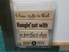 STAMPIN UP PHRASE STARTERS II SET 4 WOOD MOUNTED RUBBER STAMPS EUC A13459