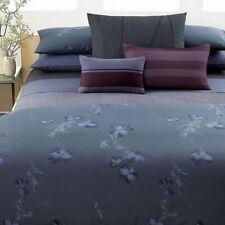 Calvin Klein Double Row Cord Nightingale Bed skirt California King Smoke Flower