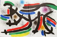MIRO - LITHOGRAPH IX - ORIGINAL LITHOGRAPH - 1975 - FREE SHIPPING IN THE US  !!!