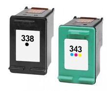Cartouches d'encre compatibles type HP 343 XL et HP 338 XL ( Couleurs / Noir )