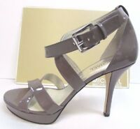 Michael Kors Size 9 Brown Taupe Patent Leather Heels New Womens Shoes
