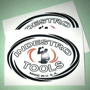 "Indestro Tools For Restoration 2 7/8"" Decals set of 2"