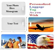 CUSTOM PERSONALIZED ID TAG LUGGAGE BAG CARDS WITH YOUR OWN IMAGE PICTURE 2 SIDES