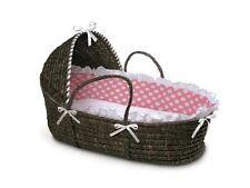 Badger Basket Hooded Moses Basket Crib w/ Bedding Baby Nursery Furniture New