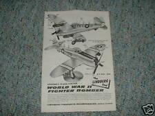 Lindberg Kit 550 Ww2 Fighter Bomber Instructions A.