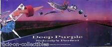 DEEP PURPLE 1988 NOBODY'S PERFECT RARE PROMO POSTER JON LORD ORIGINAL