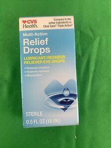 CVS Health Multi-Action Relief Drops .5 oz EXP 4/22