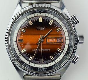 Vintage Men's Seiko World Time Calendar Watch - NO RESERVE JT04