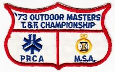 73 OUTDOOR MASTERS TRACK  & FILED CHAMPIONSHIP PRCA MSA - 1973 SPORTS PATCH