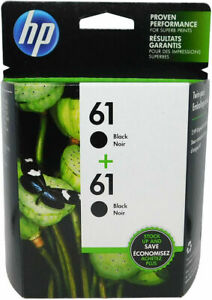 HP #61 Black Ink Cartridge 2-Pack (New In Box) CZ073FN