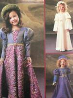 McCalls Sewing Pattern 4082 Girls Childs Renaissance Costume Size 3-6 Uncut