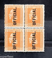 New Zealand #045 * MH block, stamp at upper right - missing period CV$110