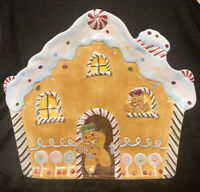 Laurie Gates HOLIDAY TREATS Platter Christmas Gingerbread House