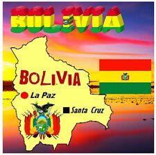 BOLIVIA, SOUTH AMERICA - SOUVENIR NOVELTY BIG SQUARE FRIDGE MAGNET / NEW / GIFTS