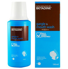 1 X BETADINE GARGLE & MOUTH WASH 190ML L6