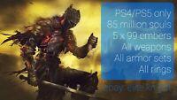 Dark Souls 3 (PS4/PS5) Item Drop - 85 Million Souls, All Weapons, Gear & Rings