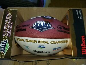 Rare Superbowl XLIII official game ball Steelers 6X Champions & superbowl logos