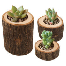 Mini Candle Stand Creative Wooden Candlestick Flower Pot Home Decor Ornament RDR