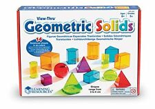 Learning Resources Viewthru Geometric Solids 14Colored