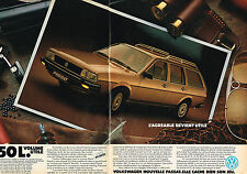 PUBLICITE ADVERTISING 104  1982  VOLKSWAGEN    la PASSAT  VOLUME UTILE ( 2 pages