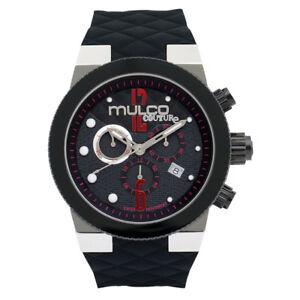 Mulco Men's Swiss Quartz Watch MW5-2552-025 Black Rubber Strap