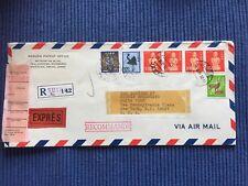 Japan Reg Airmail Brief Umschlag gel. 18.11.1981 Sevilla Tokyo nach New York USA