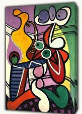 PABLO PICASSO NUDE AND STILL LIFE OIL PAINT REPRINT ON FRAMED CANVAS WALLART