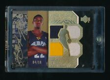 RUDY GAY 2006-07 UD BLACK JERSEY PATCH AUTOGRAPH AUTO 04/10 *GRIZZLIES*