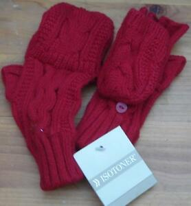 Isotoner®  Knit Ladies Winter Mittens - BRAND NEW WITH TAGS - GREAT RED COLOR