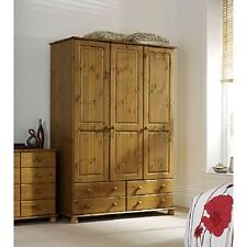 Steens Richmond 3 Door 4 Drawer Wardrobe Antique Pine Bedroom Furniture