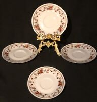 Sheffield Anniversary Fine China Saucer Plates,  Discontinued Pattern, Set Of 4