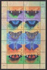 AUSTRALIA SG1810/4 1998 BUTTERFLIES SHEETLET MNH