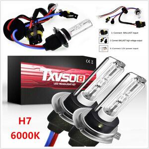 2PCS 6000K H7 Xenon HID KIT's Light Bulbs 55W Universal Car Headlights Lamp L&R