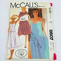 Vintage 1980s McCalls Sewing Pattern 8607 Laura Ashley Sun Dress & Scarf PT3