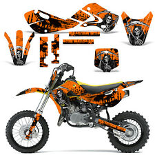 Decal Graphic Kit Kawasaki KLX110 KX65 KX Dirt Bike Suzuki RM65 DRZ110 REAP ORNG