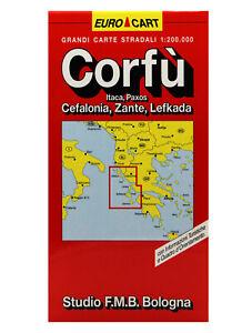 CORFÙ, CEFALONIA ZANTE CARTINA STRADALE 1:200.000 [MAPPA/CARTA] STUDIO F.M.B.