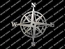 Nautical Compass Rose Metal Wall Art Plasma Cut Sign Decoration Iron Exile USA
