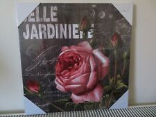 New Belle Jardiniere Red Rose Blossom+Rose Buds With Foliage Canvas 40 cm x 40 c
