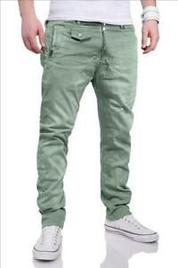 Herren Jeans Stretchjeans Herrenhose Hose Slim Fit grün