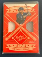 2019 Leather and Lumber Eric Thames Dual Jersey Relic #209/349
