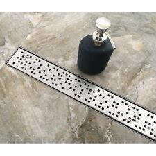 Neodrain Modern Linear Quadrato Stainless Steel Shower Drain Midcentury MidMod