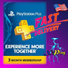 PlayStation Plus 3 Months Membership PS / 90 Days Subscription [USA] PS3 PS4 PS5