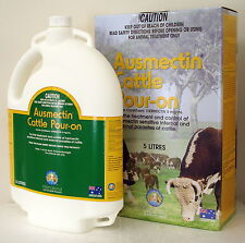Ausmectin (Ivermectin) Cattle Drench Pour-On 5L (Equiv. Ivomec Pour-On)