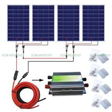 400Watt COMPLETE KIT: 4*100Watts Photovoltaic Solar Panel for 24V system RV Boat