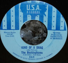 "*<* UNPLAYED MINT 1966 #1 HIT ""KIND OF A DRAG"" BUCKINGHAMS SCARCE BLUE LABEL 45!"